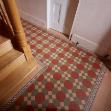 Original Style_VFT_Warwick Red, Green & Buff with Telford Border_location