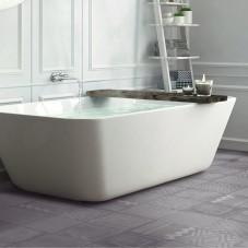 Scandinavian bathroom, white minimalistic design, hotel spa reso