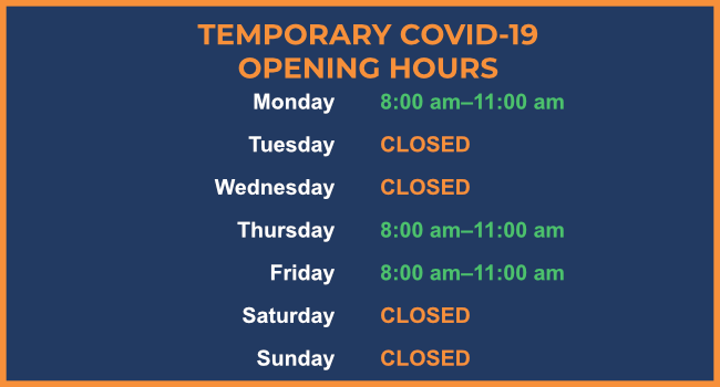 COVID Opening Hours Jan 2021 (Harlow)